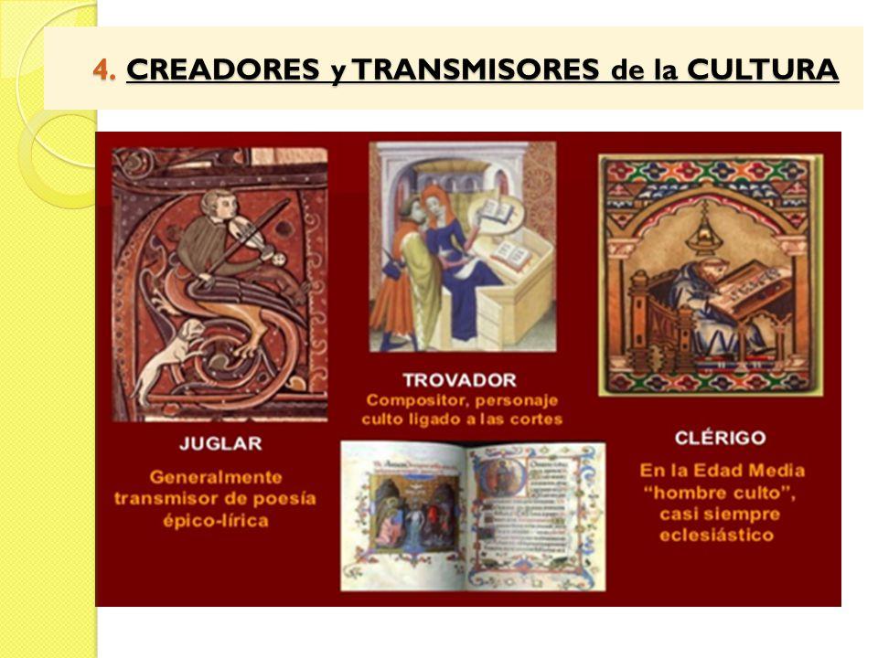 4. CREADORES y TRANSMISORES de la CULTURA