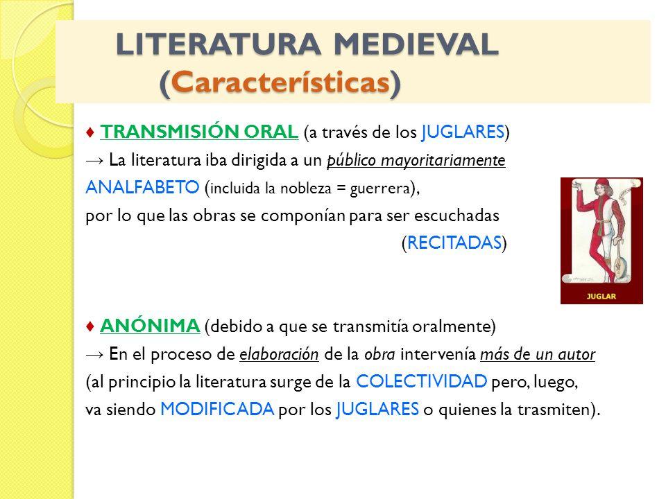 LITERATURA MEDIEVAL (Características)