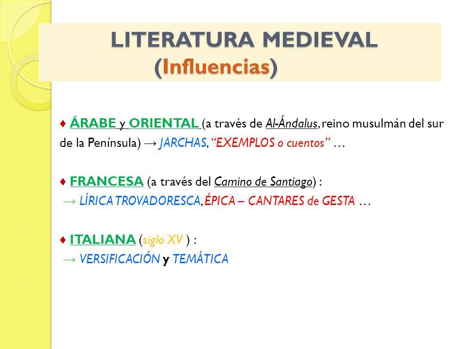 LITERATURA MEDIEVAL (Influencias)