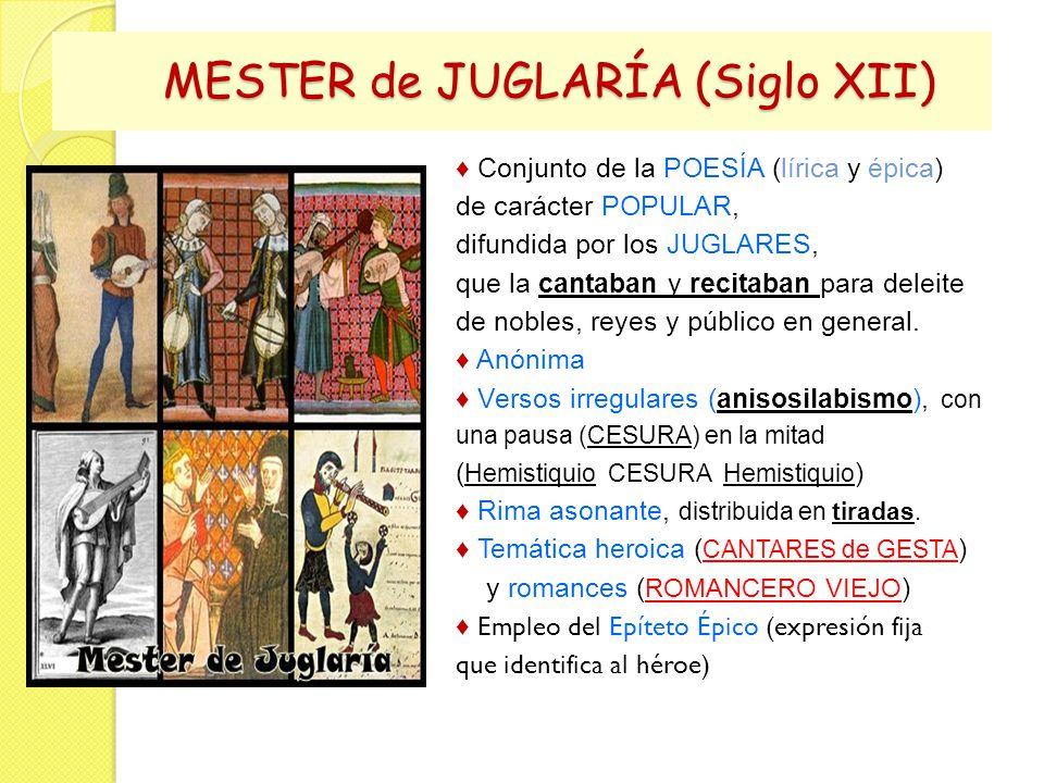 MESTER de JUGLARÍA (Siglo XII)