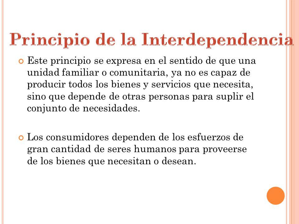 Principio de la Interdependencia