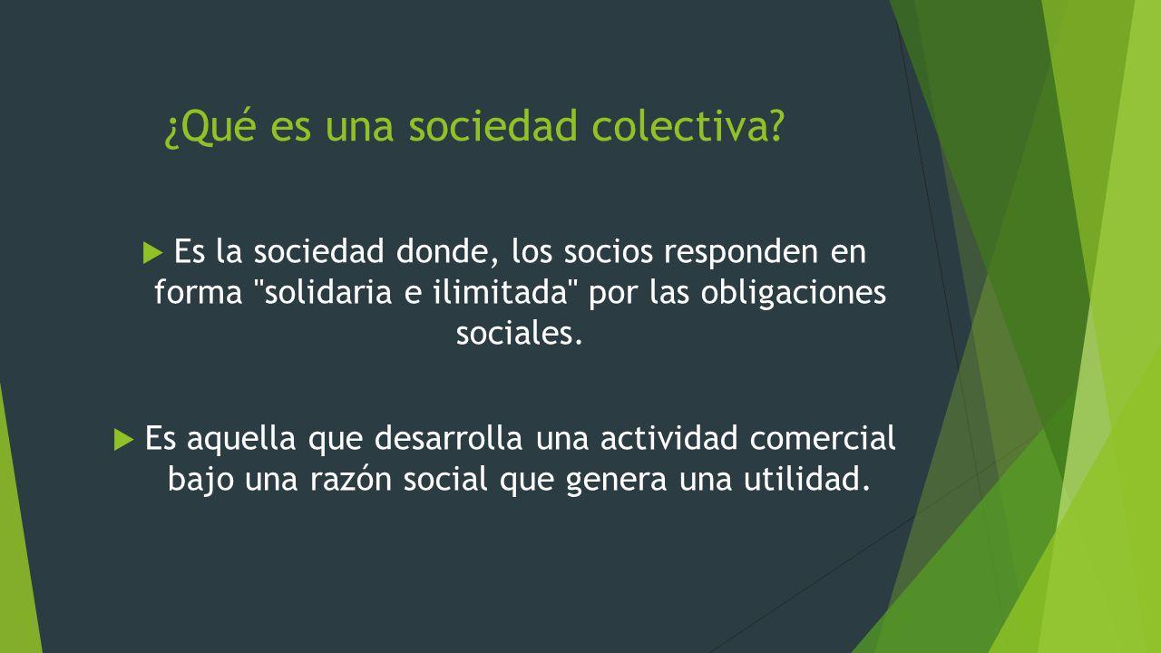 ¿Qué es una sociedad colectiva