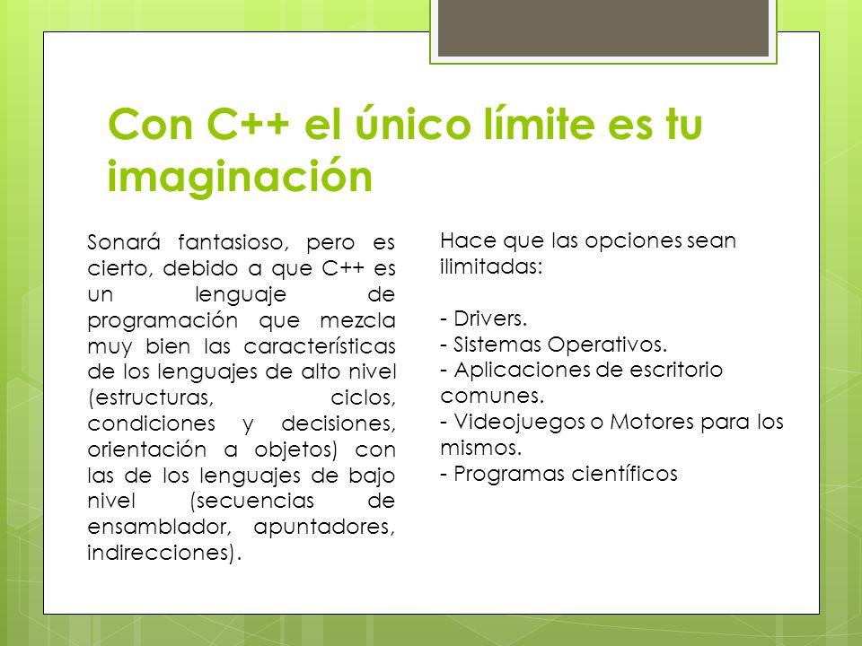 Con C++ el único límite es tu imaginación