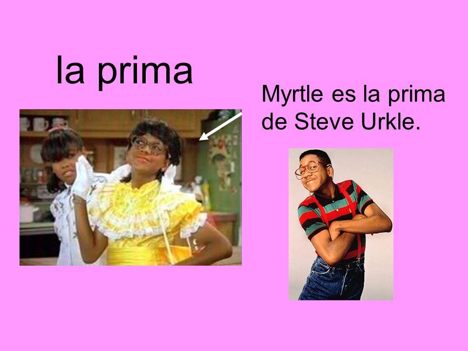 la prima Myrtle es la prima de Steve Urkle.