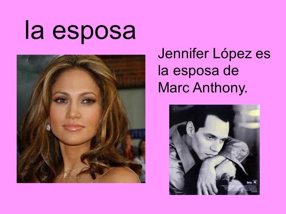 la esposa Jennifer López es la esposa de Marc Anthony.
