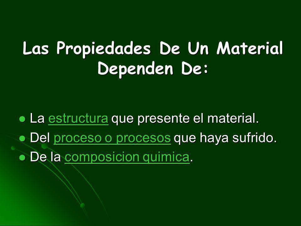 Las Propiedades De Un Material Dependen De:
