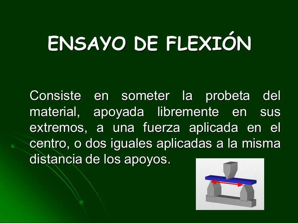 ENSAYO DE FLEXIÓN