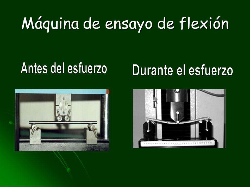 Máquina de ensayo de flexión