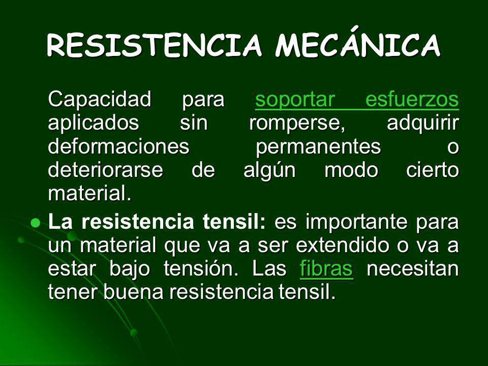 RESISTENCIA MECÁNICA