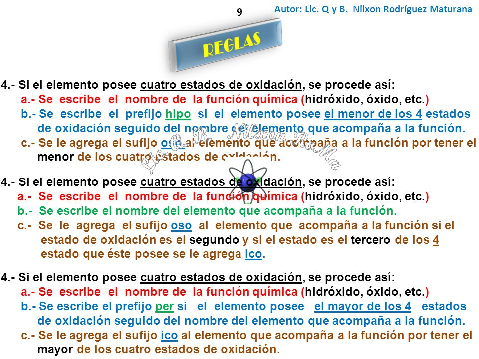 Lic. Q. B. Nilxon RoMa REGLAS 9