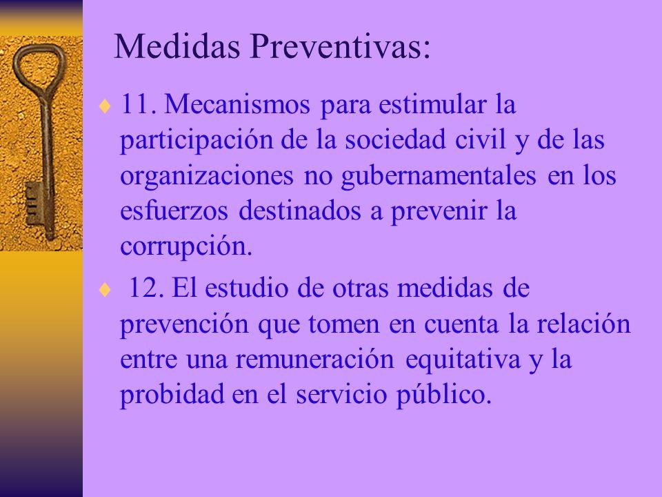 Medidas Preventivas: