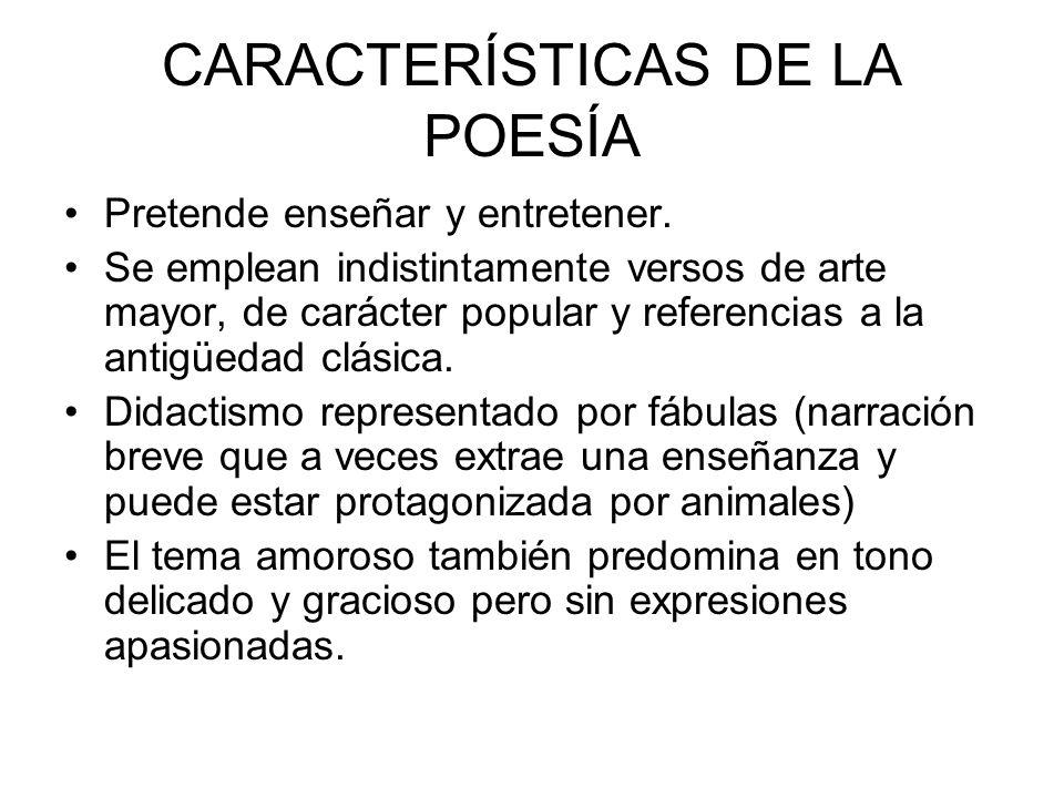 CARACTERÍSTICAS DE LA POESÍA