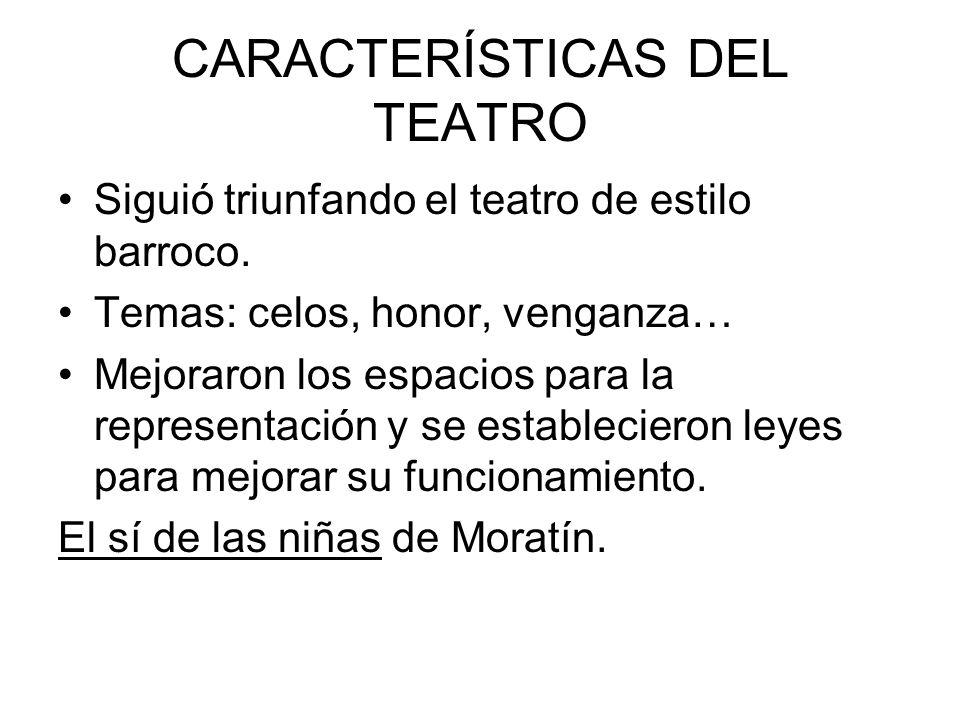 CARACTERÍSTICAS DEL TEATRO
