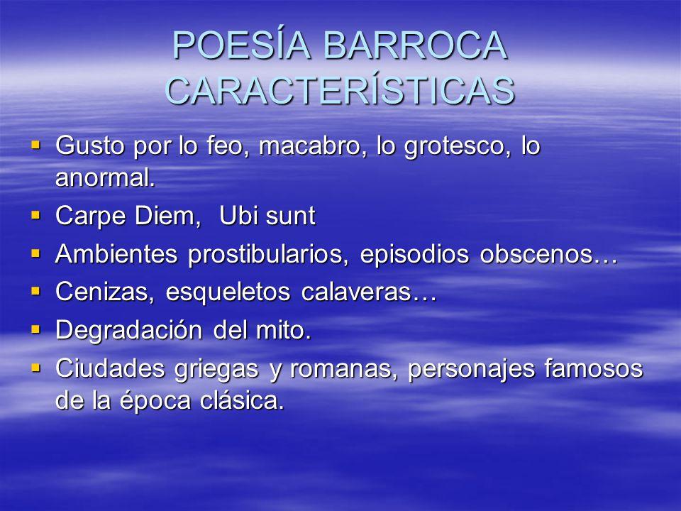 POESÍA BARROCA CARACTERÍSTICAS