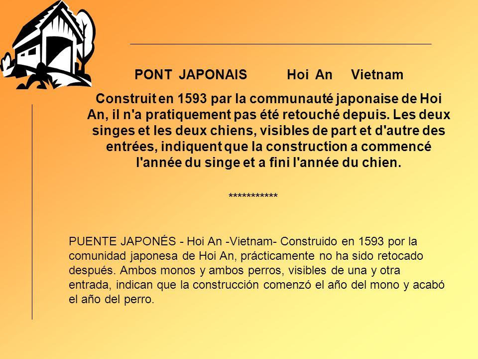 PONT JAPONAIS Hoi An Vietnam