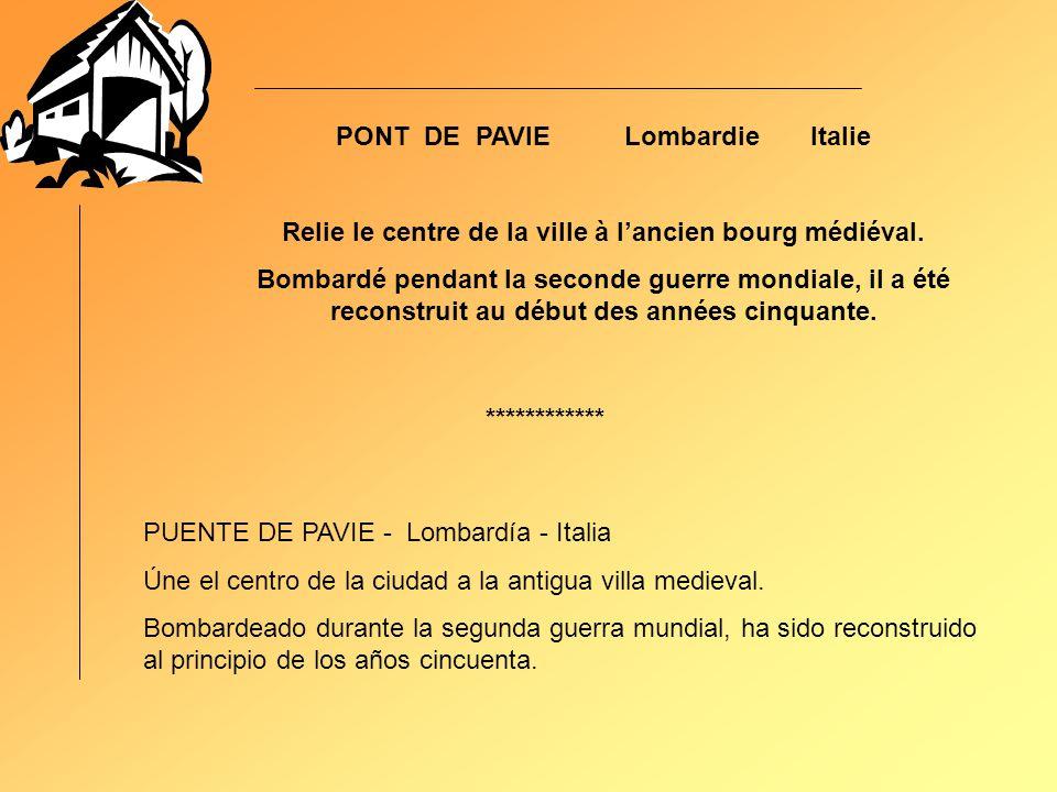 PONT DE PAVIE Lombardie Italie