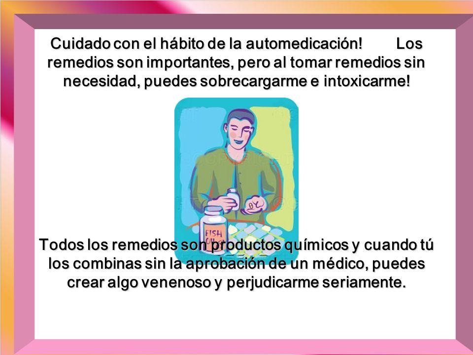 Cuidado con el hábito de la automedicación