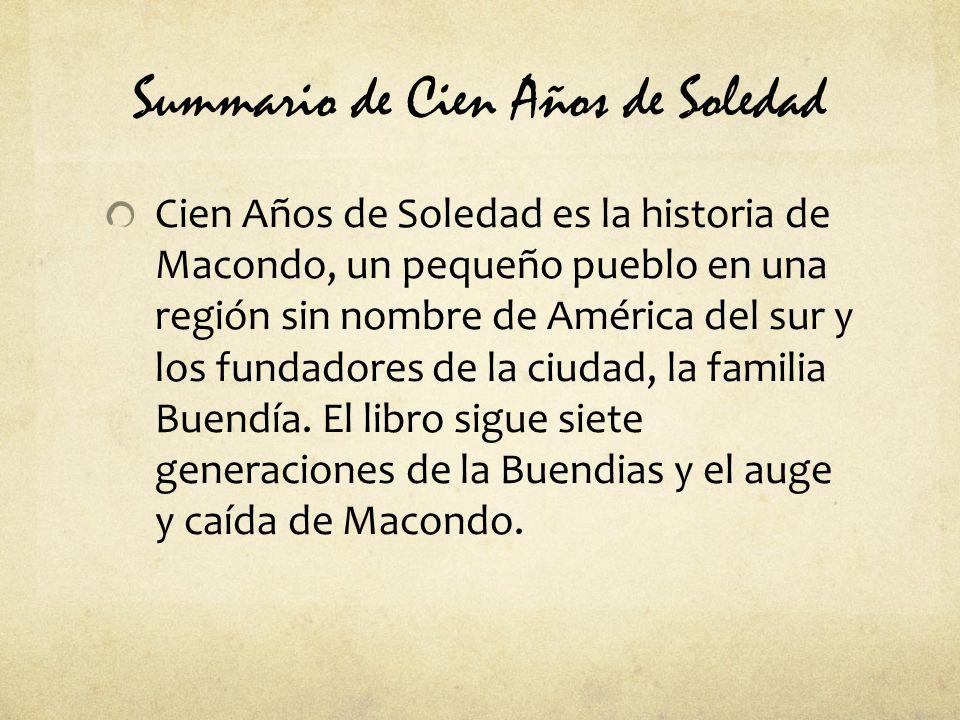 Summario de Cien Años de Soledad