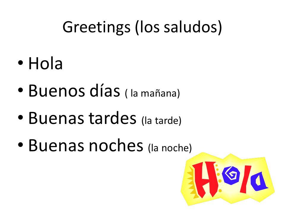 Greetings (los saludos)