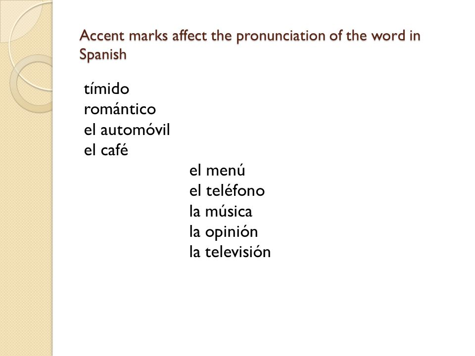 how to put accent marks on words in spanish