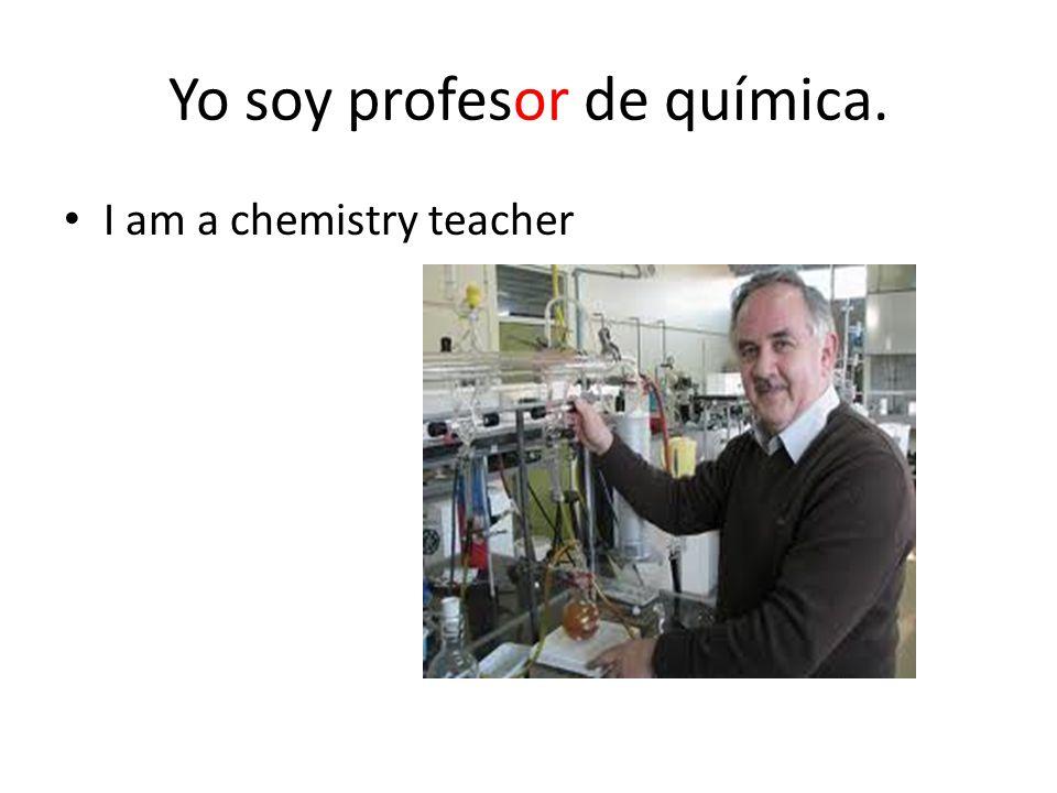 Yo soy profesor de química.