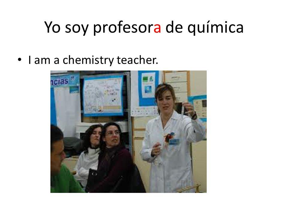 Yo soy profesora de química