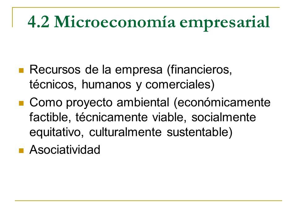 4.2 Microeconomía empresarial