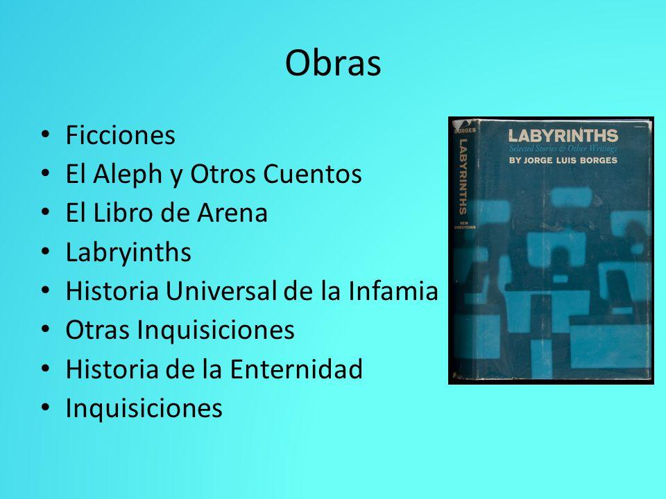 Obras Ficciones El Aleph y Otros Cuentos El Libro de Arena Labryinths