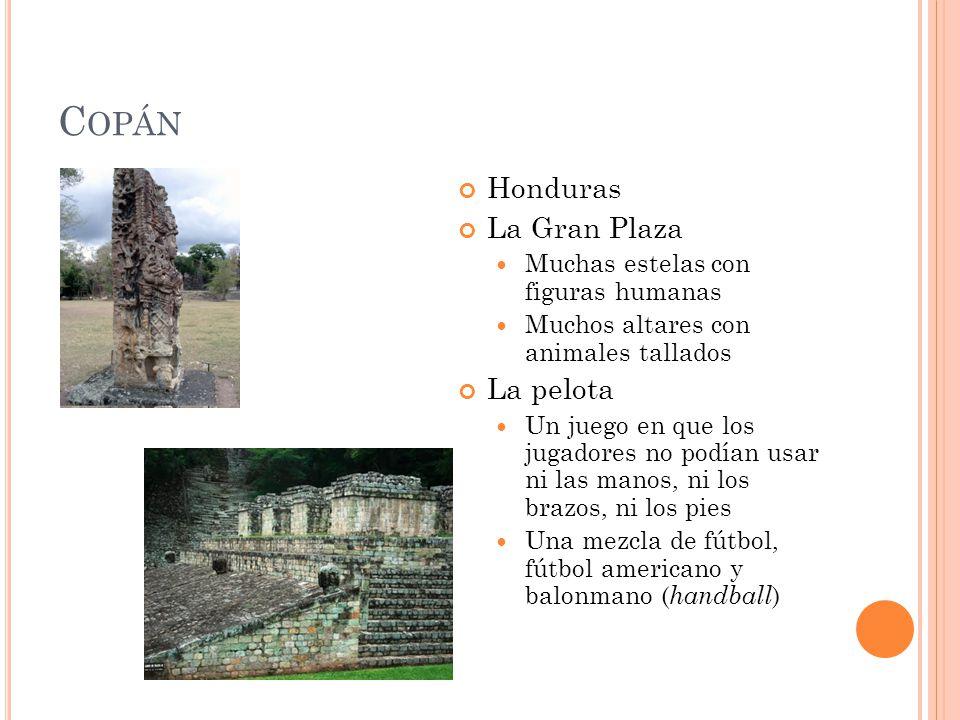 Copán Honduras La Gran Plaza La pelota