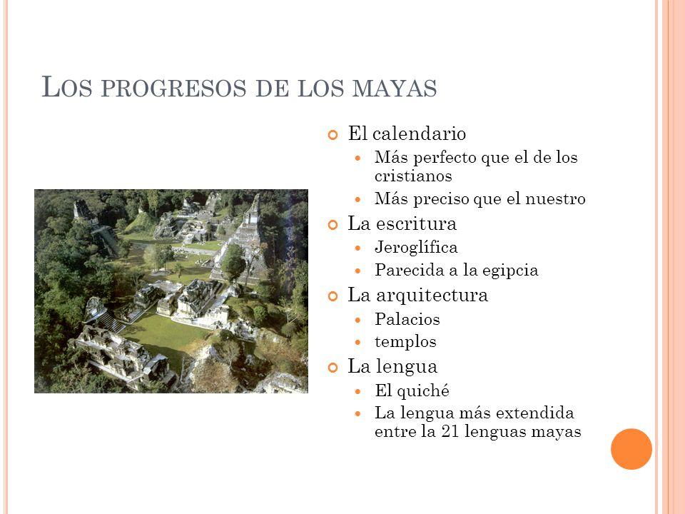 Los progresos de los mayas