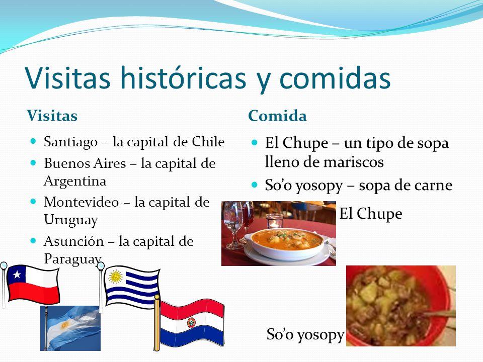 Visitas históricas y comidas