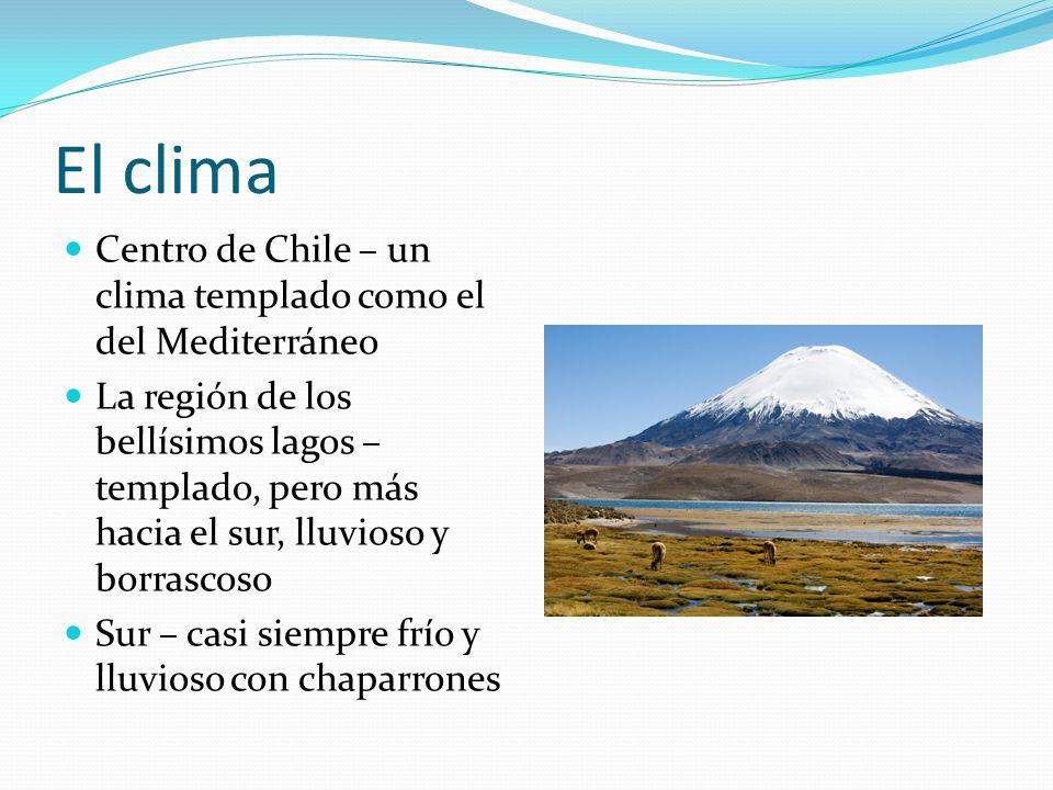 El clima Centro de Chile – un clima templado como el del Mediterráneo