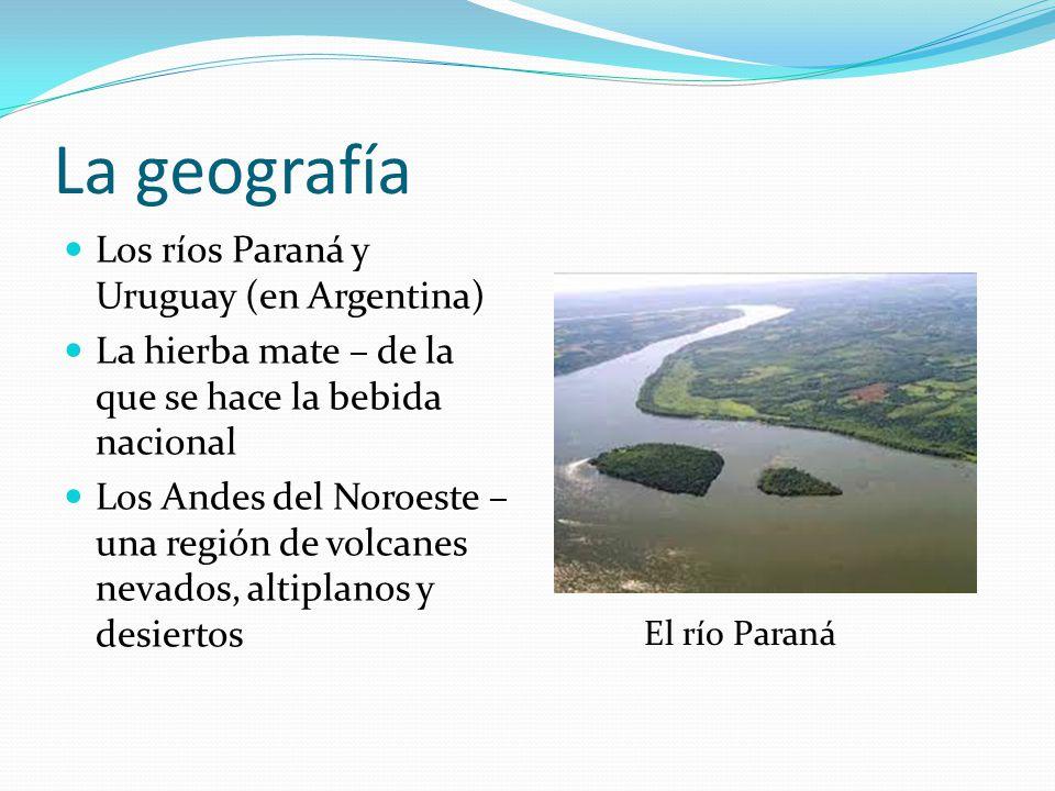 La geografía Los ríos Paraná y Uruguay (en Argentina)