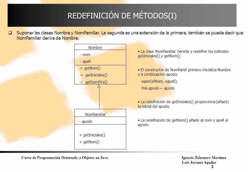 REDEFINICIÓN DE MÉTODOS(I)