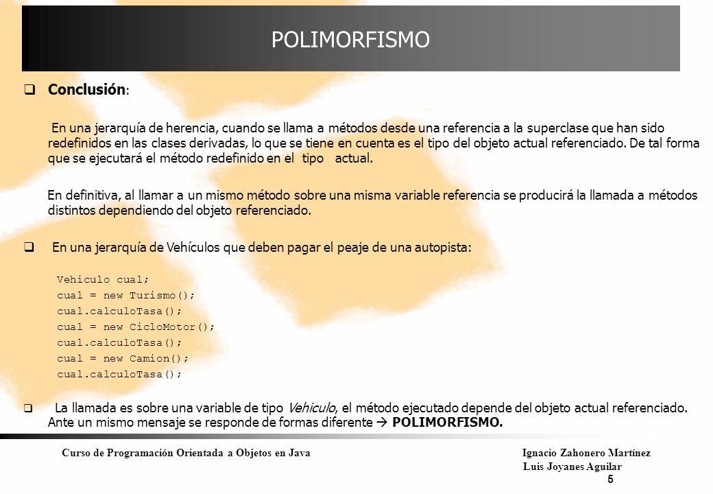 POLIMORFISMO Conclusión:
