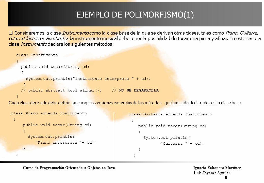 EJEMPLO DE POLIMORFISMO(1)