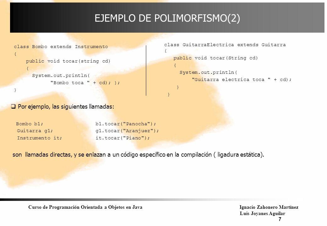 EJEMPLO DE POLIMORFISMO(2)