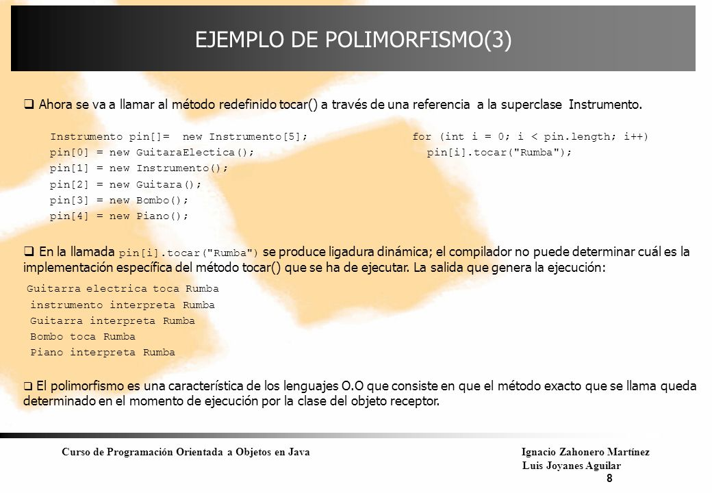 EJEMPLO DE POLIMORFISMO(3)