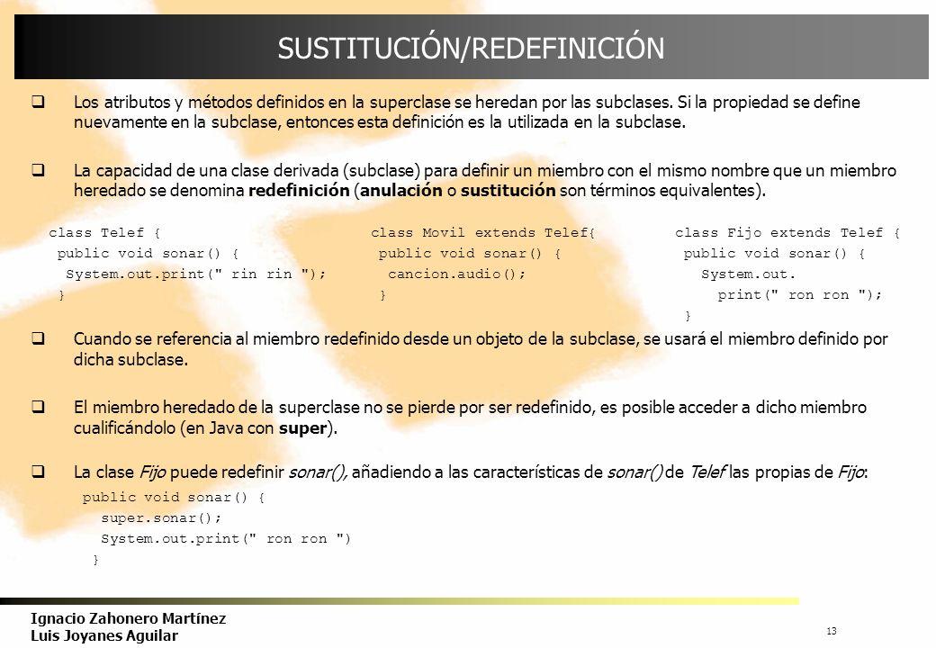 SUSTITUCIÓN/REDEFINICIÓN