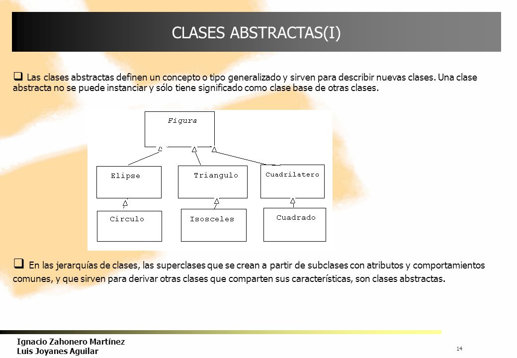 CLASES ABSTRACTAS(I)