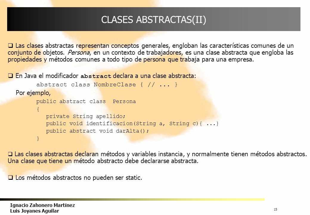 CLASES ABSTRACTAS(II)