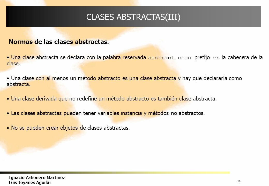 CLASES ABSTRACTAS(III)