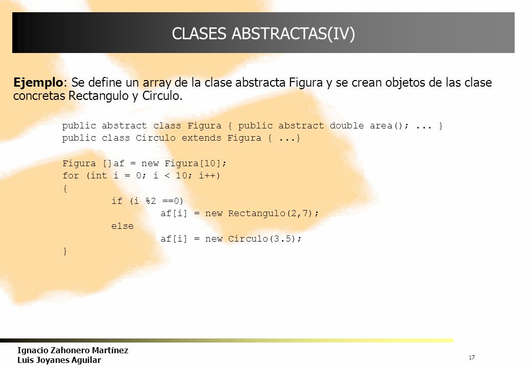CLASES ABSTRACTAS(IV)