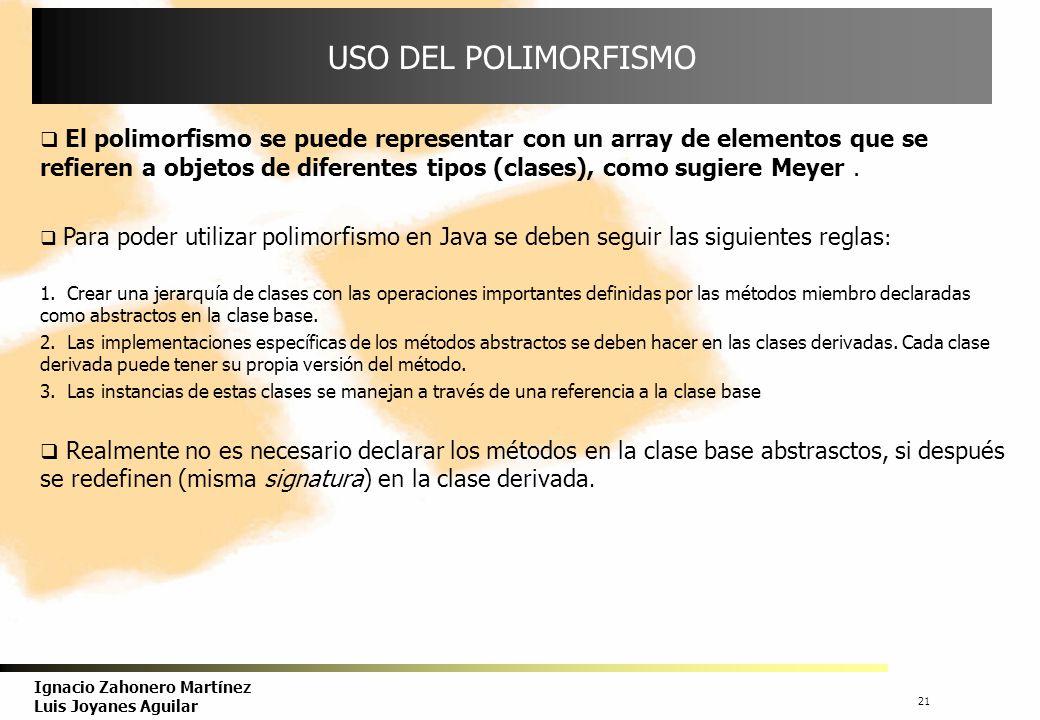 USO DEL POLIMORFISMO