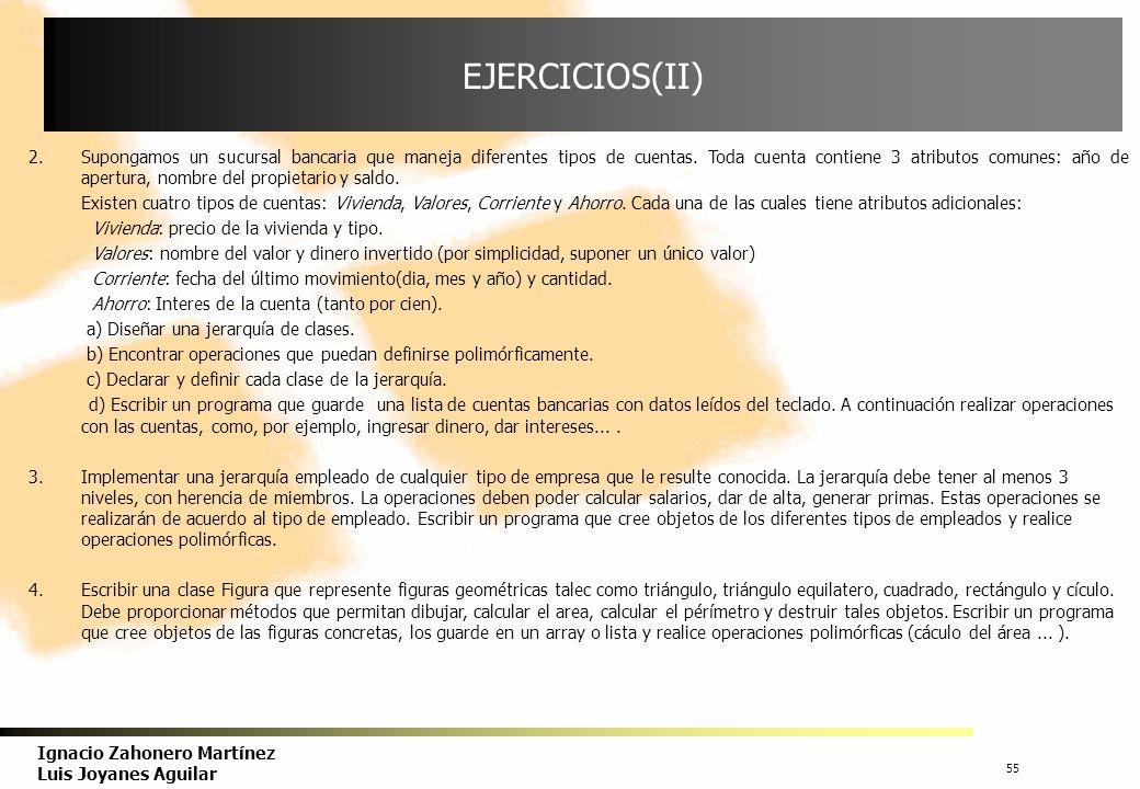 EJERCICIOS(II)