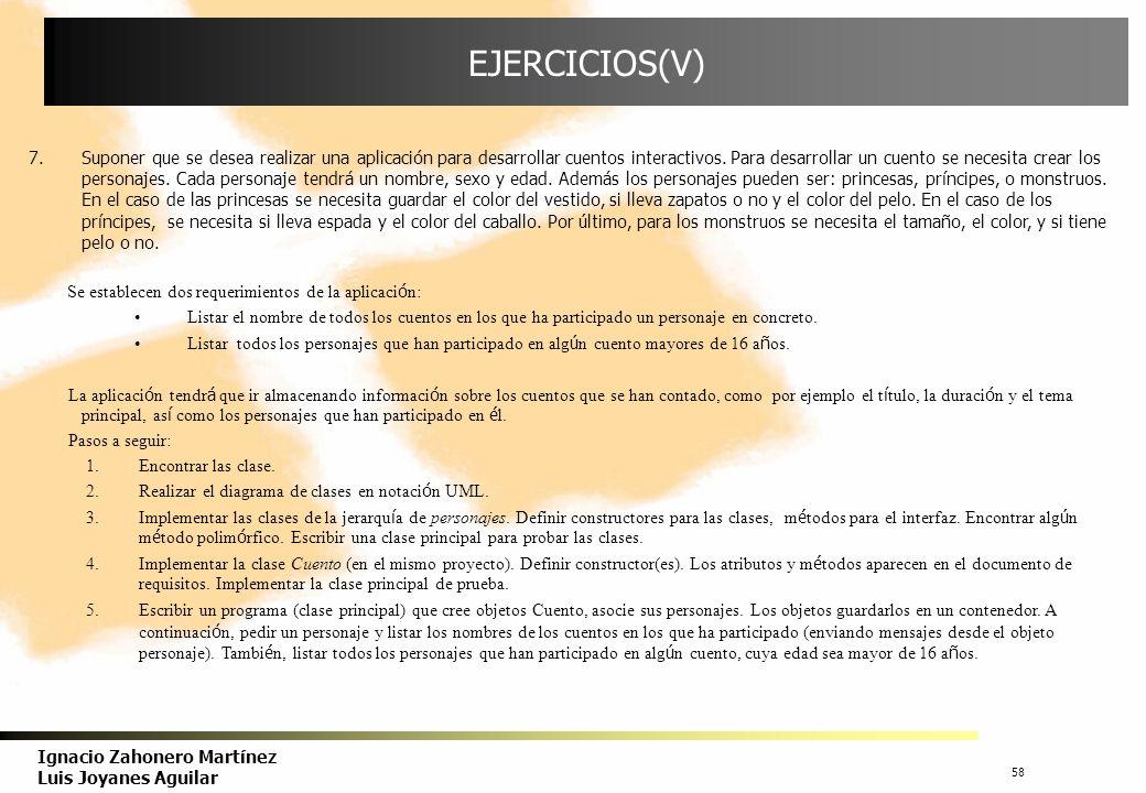 EJERCICIOS(V)