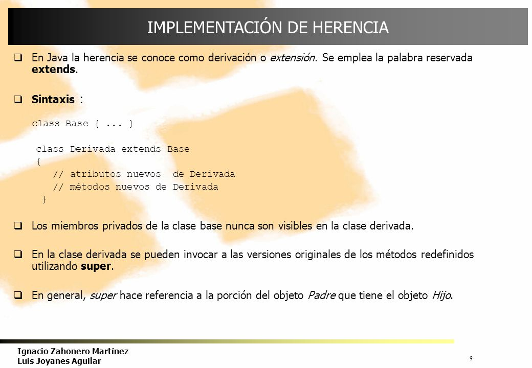 IMPLEMENTACIÓN DE HERENCIA