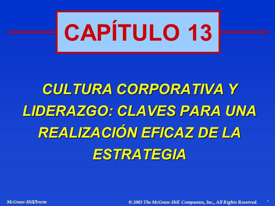 CAPÍTULO 13 CULTURA CORPORATIVA Y LIDERAZGO: CLAVES PARA UNA REALIZACIÓN EFICAZ DE LA ESTRATEGIA