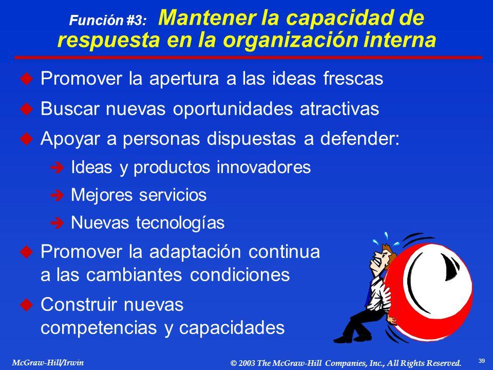 Promover la apertura a las ideas frescas