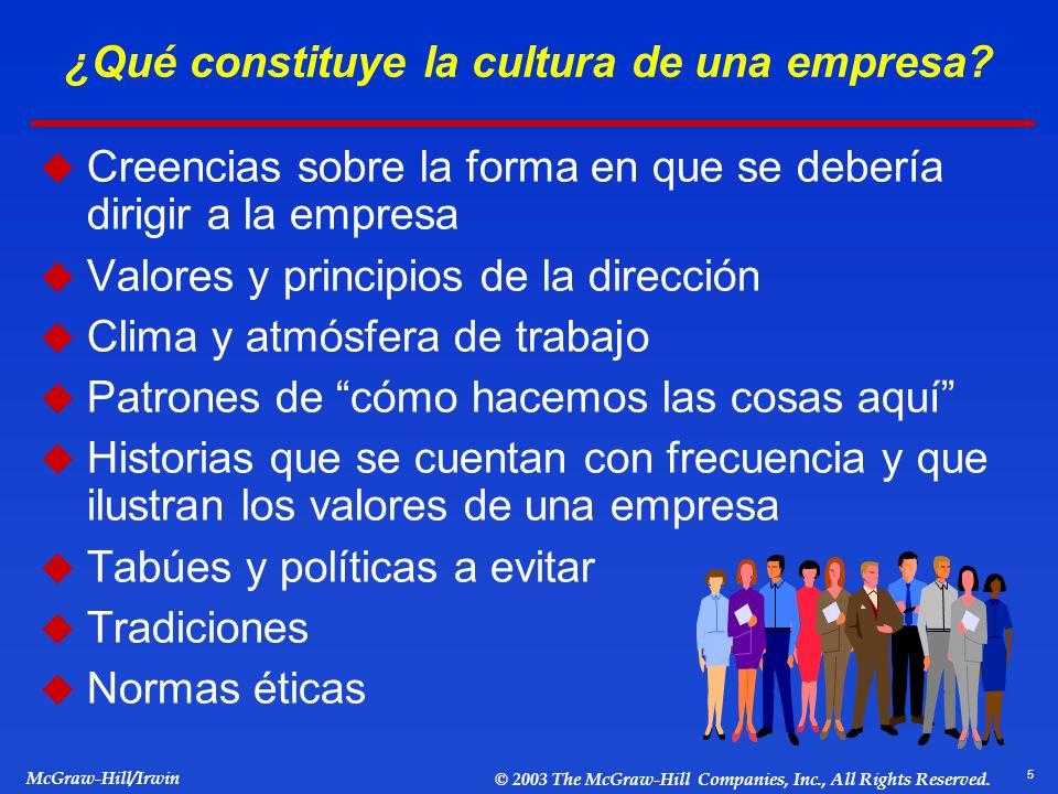 ¿Qué constituye la cultura de una empresa